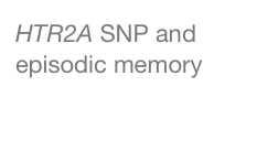 HTR2A SNP and episodic memory